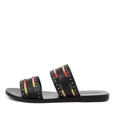 Sol Sana Pablo Slide Black Sandals