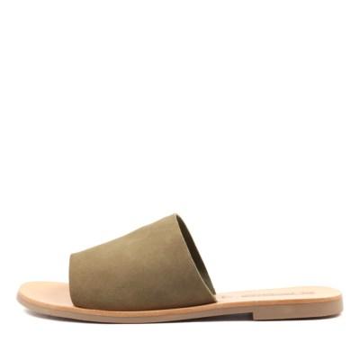 Sol Sana Teresa Slide Moss Sandals