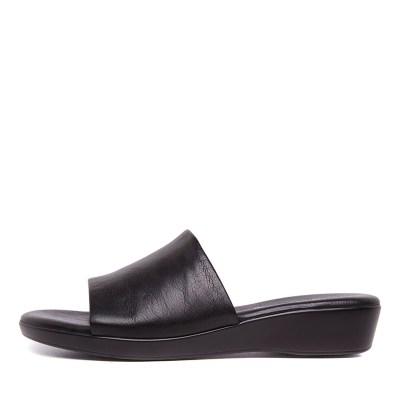 Supersoft Albury Black Sandals