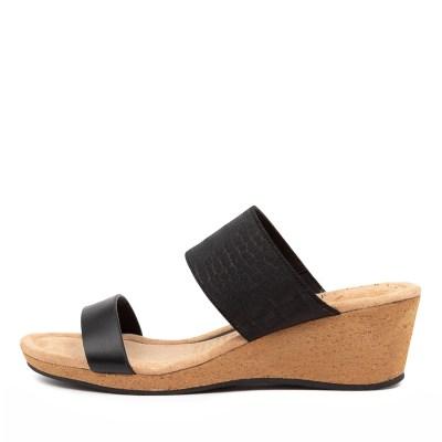 Supersoft Brazil Su Black Sandals