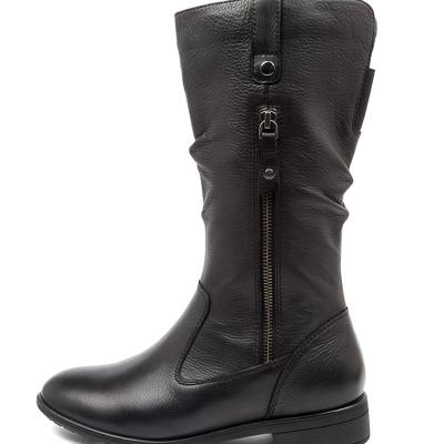 Supersoft Ezra Su Black Boots Womens Shoes Casual Calf Boots