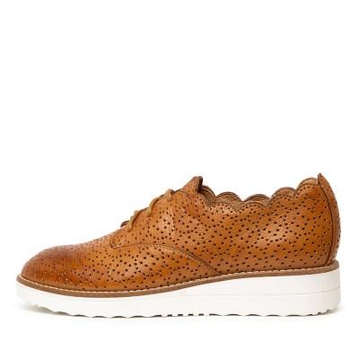 Top End Ottilia Dk Tan White So Sneakers