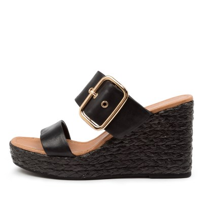 Top End Angels To Black Sandals