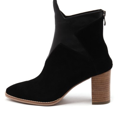 Top End Ashta Black Black Metallic Boots Womens Shoes Casual Ankle Boots
