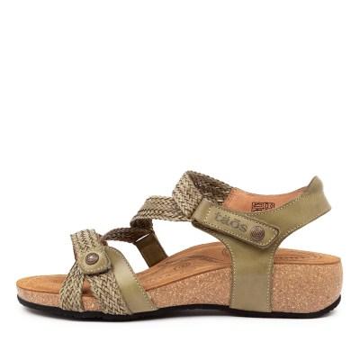Taos Trulie Herb Green Sandals Womens Shoes Comfort Sandals Flat Sandals