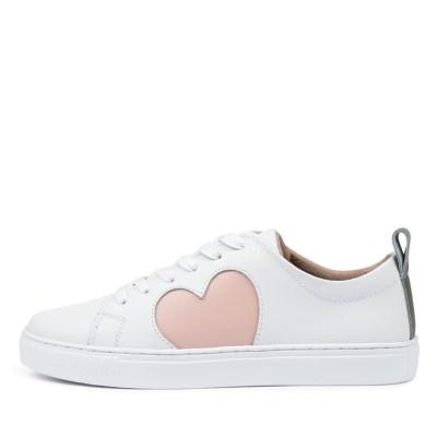 Walnut Heart Sneaker Wa White Blush Sneakers