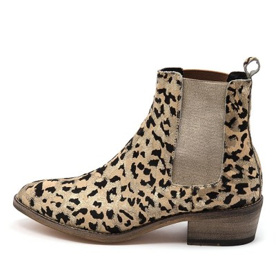 Mollini Zallas Gold Ocelot Boots