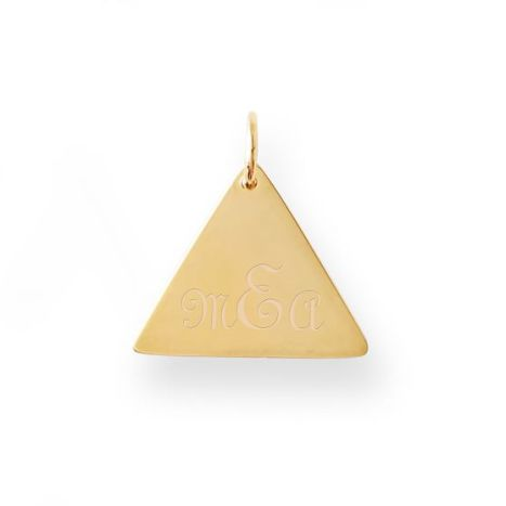 Mark and Graham Triangle Large Plate Pendant Necklace