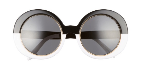 VOW London Edie 51mm Round Sunglasses