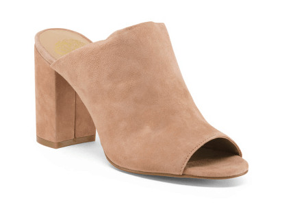Vince Camuto Suede Hooded Mules