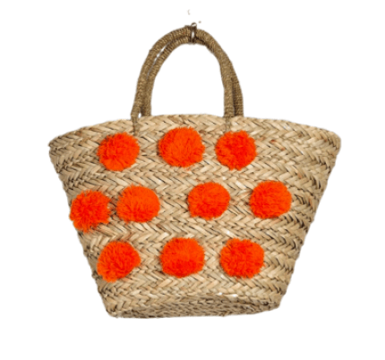 Pom Pom Straw Tote Beach Bag Forever 21