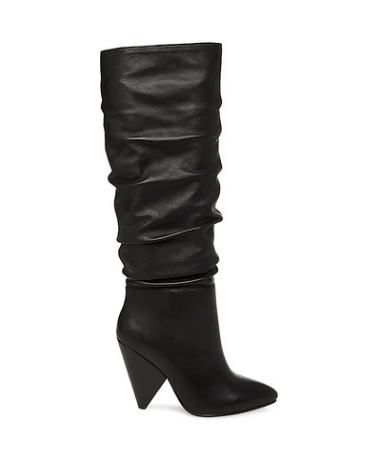 Steve Madden Vivacious Leather Black Slouch Boots