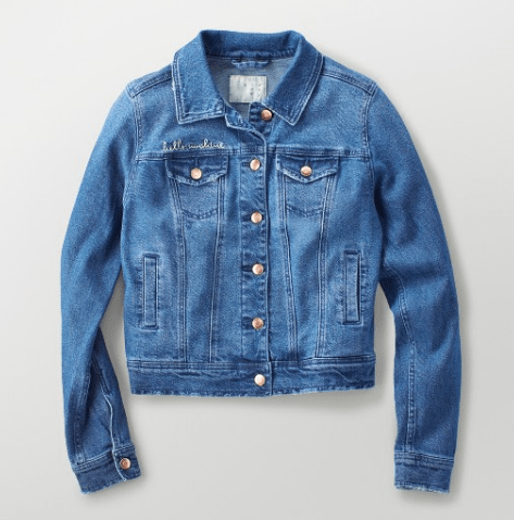 Targets A New Day Embroidered Denim Jacket