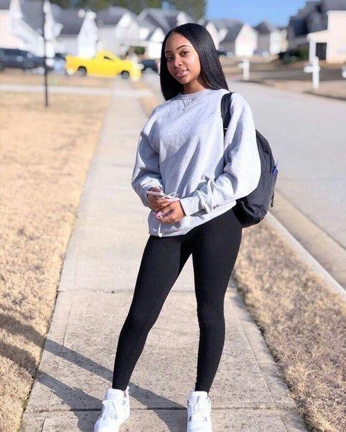 school baddie outfits black