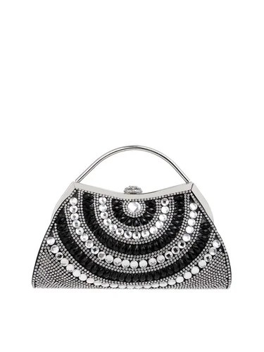 Clasp Lock Small Evening Beaded Clutch