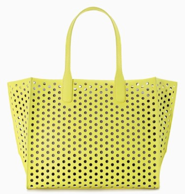 Zara yellow shopper, $79.70
