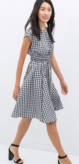 zara check dress