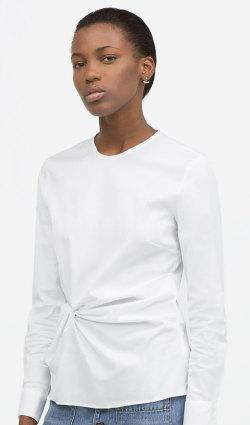 Zara white blouse 79