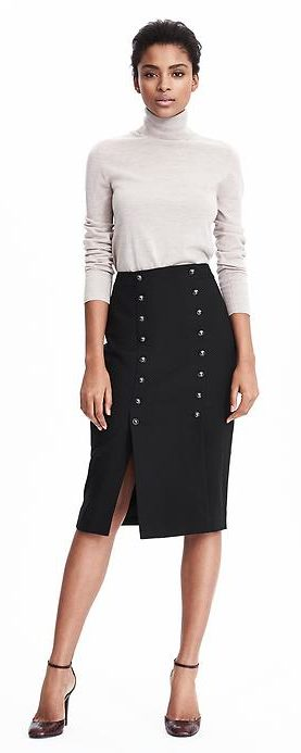 banana republic revamps brand - heritage button skirt $138