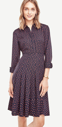 What to Wear this Thankgiving ann-taylor-swing-pleat-dress-149