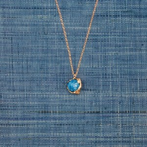 Faceted Turquoise Sphere Pendant