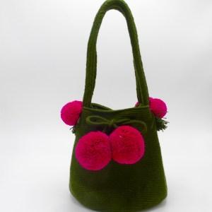 Mini Wayuu Mochila (Olive)