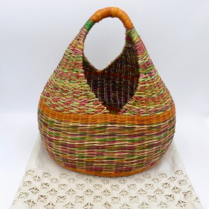 Multi-Color Straw Carryall (Large)