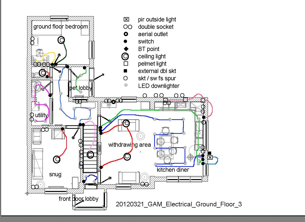 Kitchen Electrical And Lighting Layout