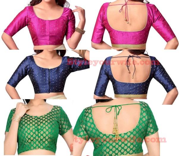 Beautiful simple blouse designs photos