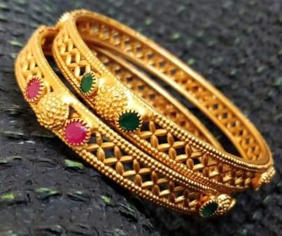 Ruby stone bangle Design