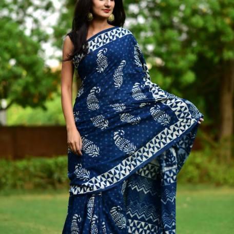 All over print saree