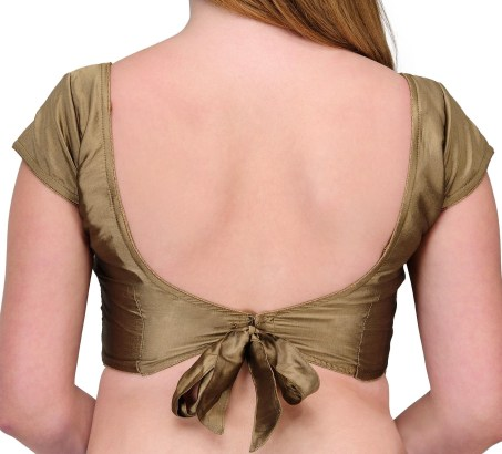 Blouse with knot on back