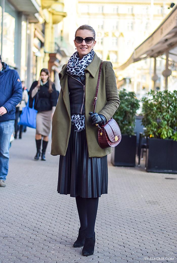 Jelena Mijatović, ekonomistica, Street style moda advent Zagreb,