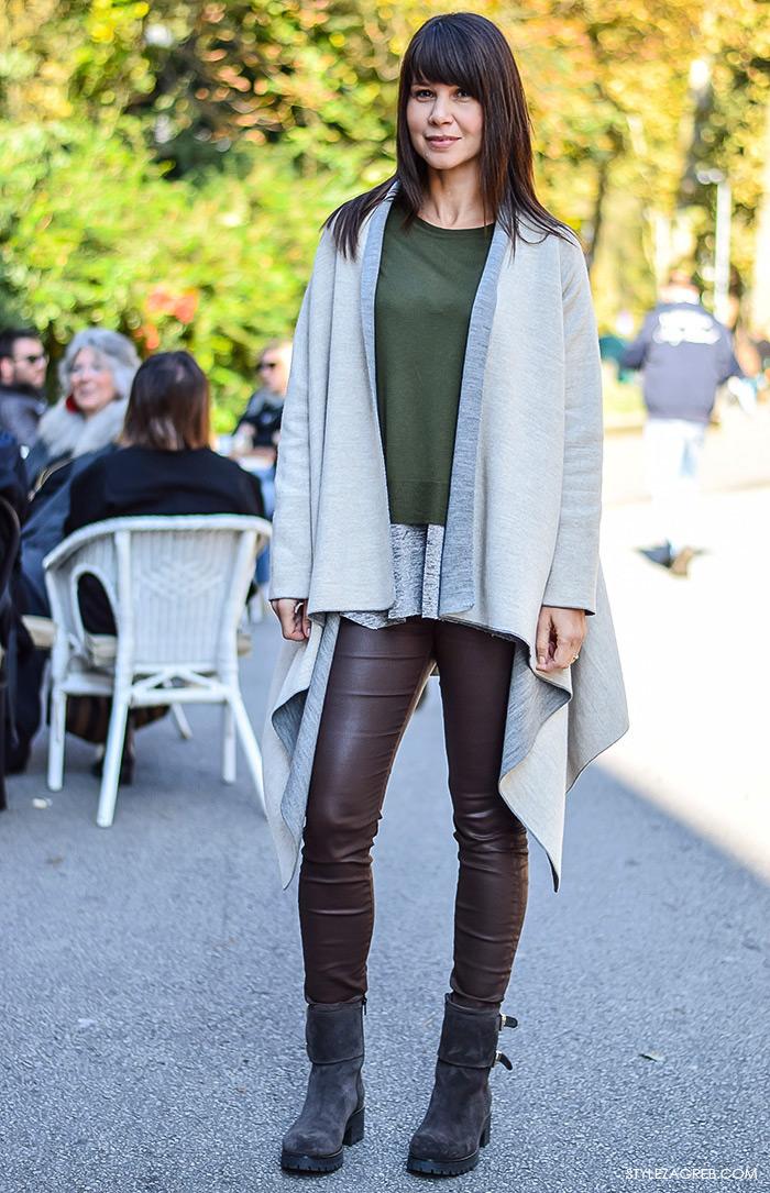 Street style moda advent Zagreb, Ivona Brnelić, vlasnica fitness studija iz Rijeke