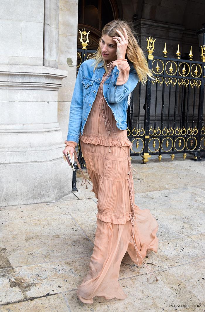 Kako kombinirati gležnjače i maksi haljinu, Veronika Heilbrunner, StyleZagreb.com