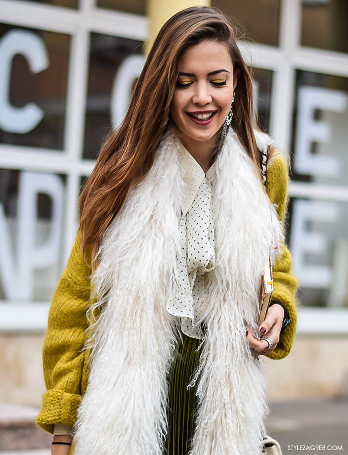 Zagreb street style moda, Milica Mihajlović, pussy bow košulja