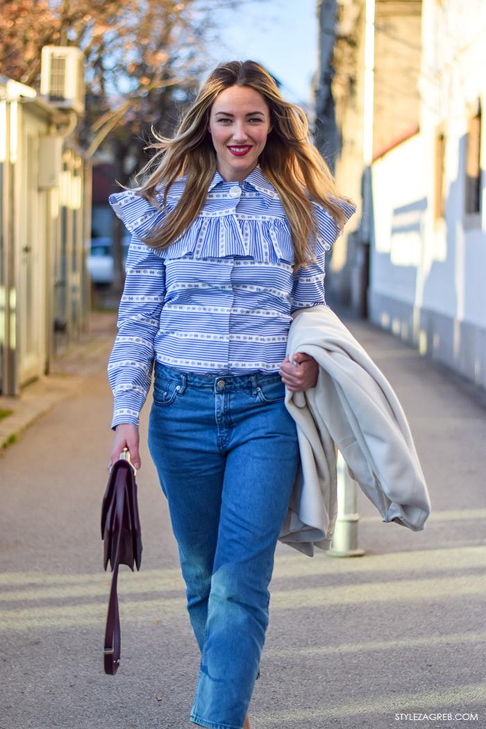 Teuta Mesaroš, StyleZagreb.com, street style MiuMiu košulja na volane