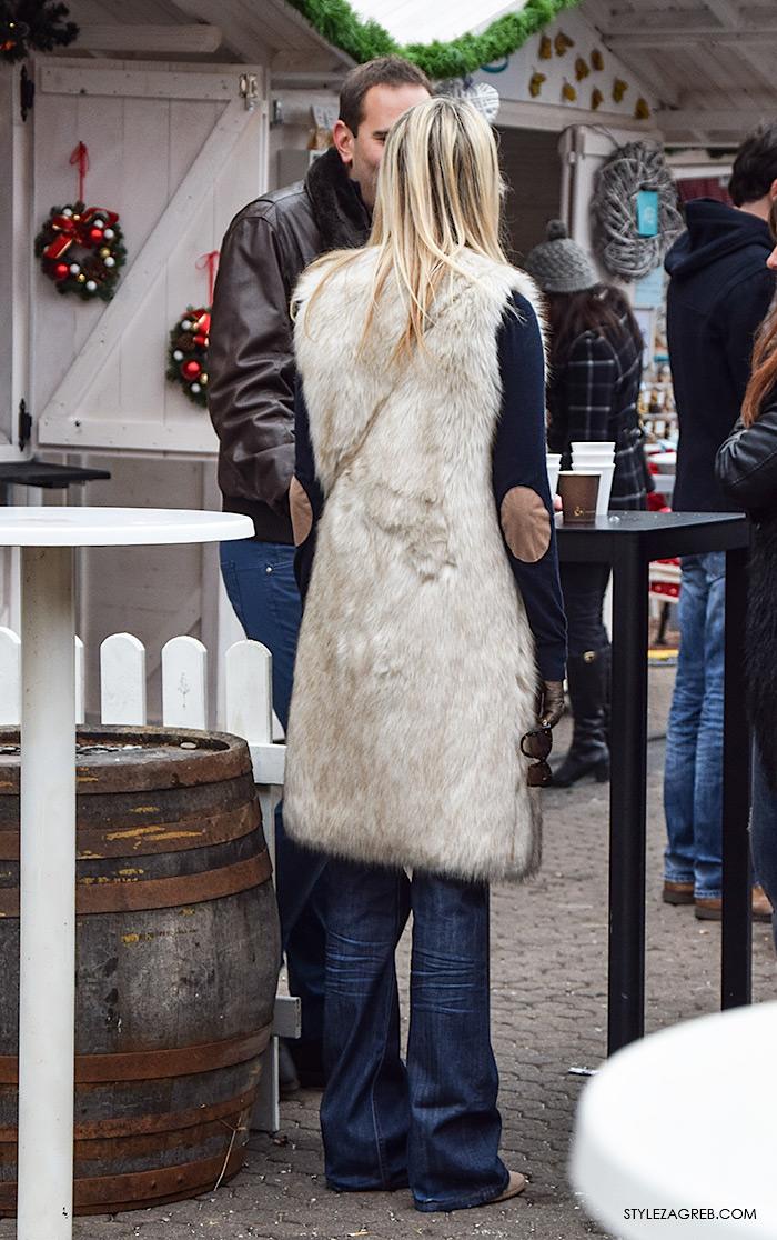 Moda street style advent Zagreb: kako stilizirati krzneni prsluk by StyleZagreb.com