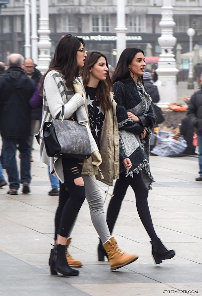 Advent Zagreb street style moda, kako kombinirati pončo
