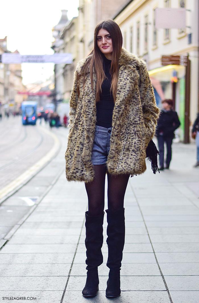 Kako nositi šorc, bundicu, čizme preko koljena, boho stil. Zagreb street style Klaudija Lozić iz Vinkovaca