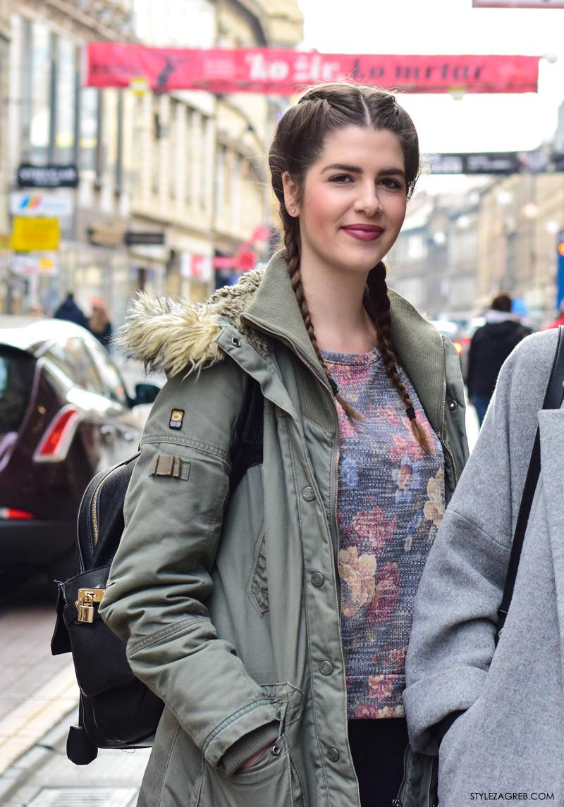 Zagreb street style frizure kako isplesti pletenice street style look frendice Adriana Vidović