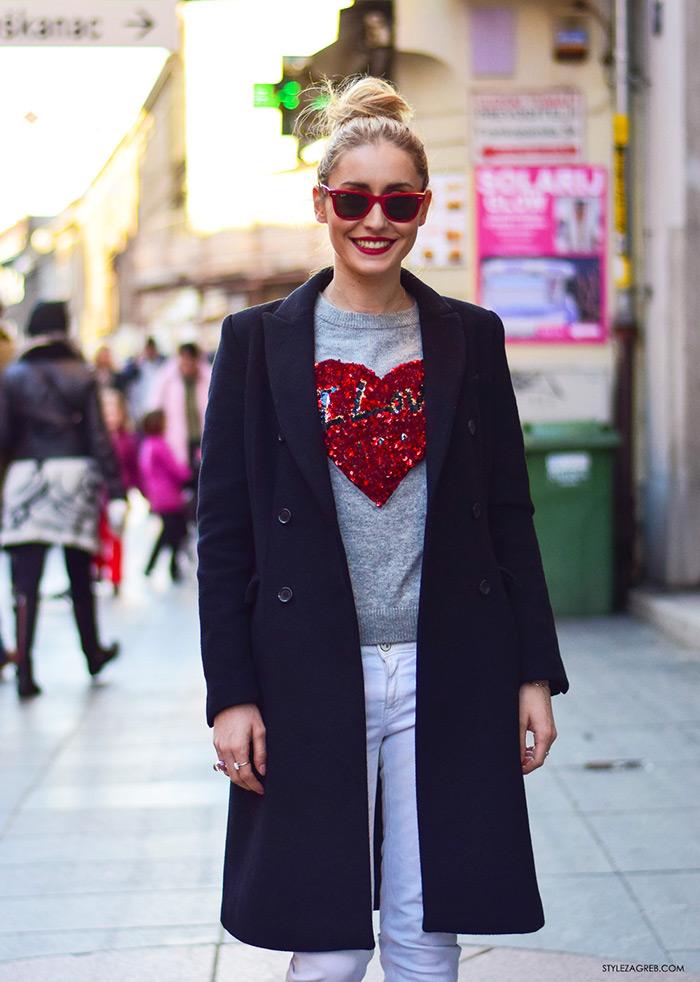 Ideje za dnevni stajling, ulična moda 2016 Zagreb street style Sara Gulin Valentinovo, udruga žena, super žena, gloria časopis za žene, život i zdravlje, poslovna žena, zadovoljna žena
