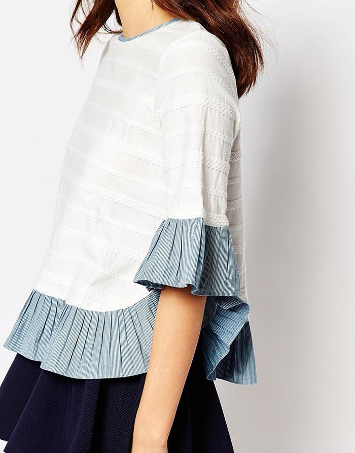 Moda: kako nositi kombinirati košulju s volanima style zagreb street style ulična moda