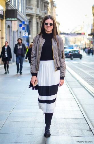 Zagreb street style, proljetna moda, bomber jakne, stylezagreb, Andrea Zorić, studentica iz Zadra