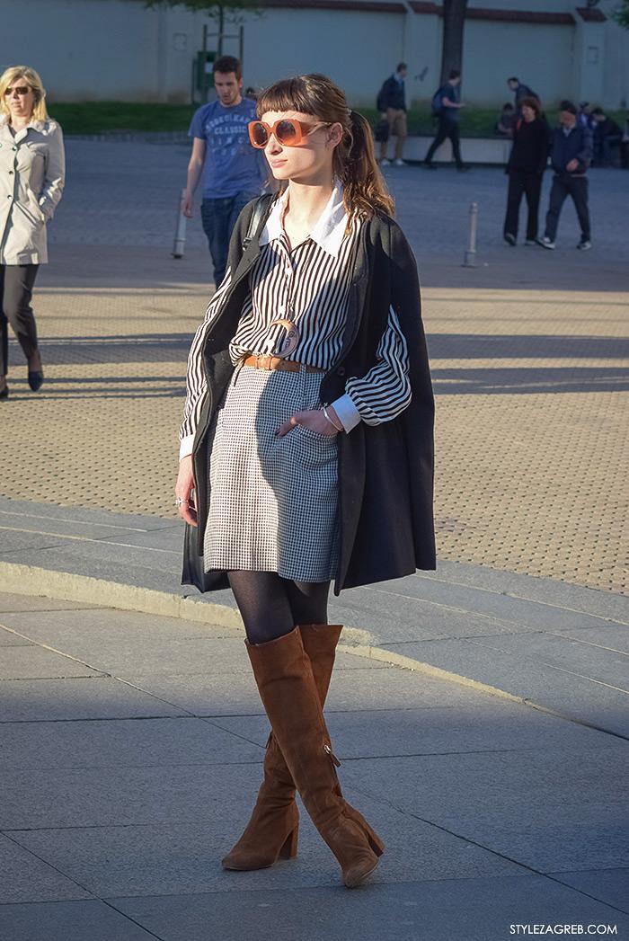 Zagrebačka špica, proljetni street style trendovi i modne kombinacije, Dominika Mandić