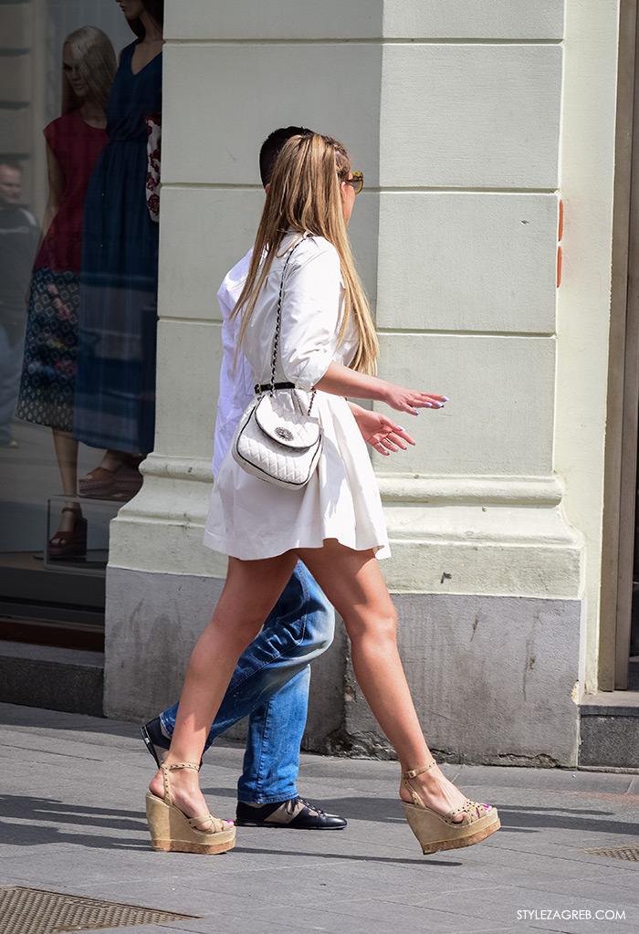 Zagreb ulična moda, Style Zagreb proljeće street style cro moda fashion žena hr, kako nositi mini haljinu i platforma sandale