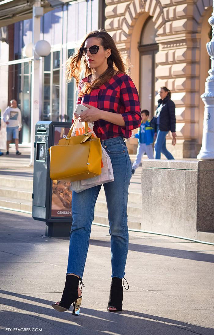 Street Style Zagreb, kako kombinirati žuta torba Zara, ulična moda