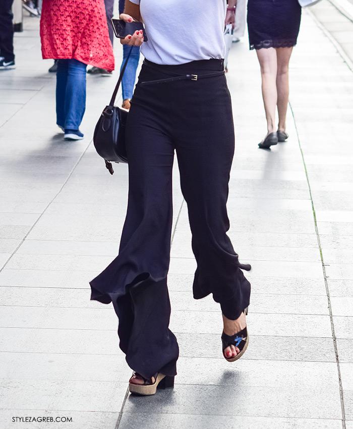Street style Zagreb novi trend lepršave hlače, ženska moda ljeto 2016