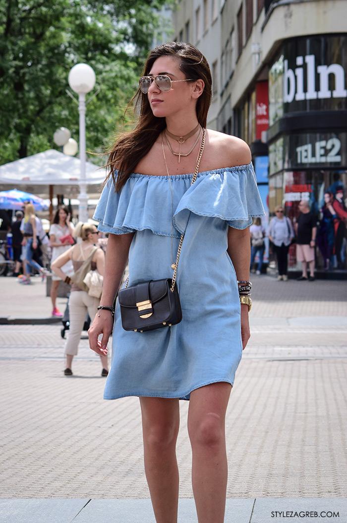 Jana Lulić, svijetlo plava traper haljina, style zagreb street style 2016 hrvatska style zagreb com zagreb danas ulična moda zagrebačka špica lipanj subota proljetna ljetna ženska moda trendovi