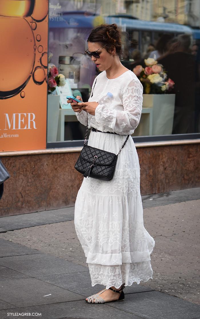 Street style Zagreb Hrvatska, ulična moda Zagreb, prosvjed Hrvatska može bolje 1.6.2016., glumica Ana Maras Harmander